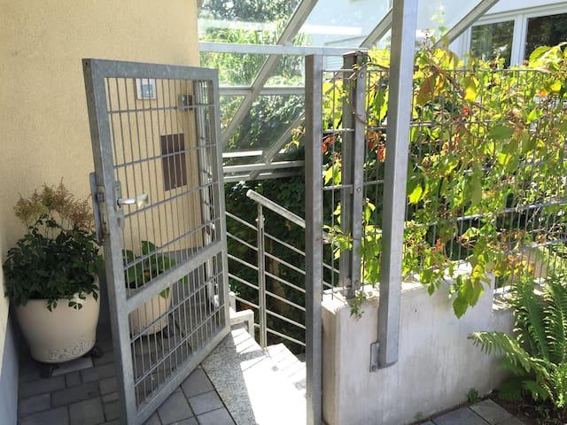 Apartment mit Gartenblick - Laudenbach - Appartement