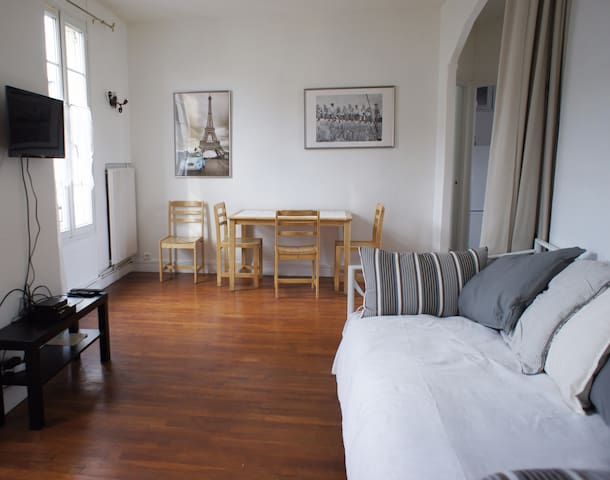 Paris in 15min - Flat  2/3 rooms for 4 persons. - オルネースーボア - アパート