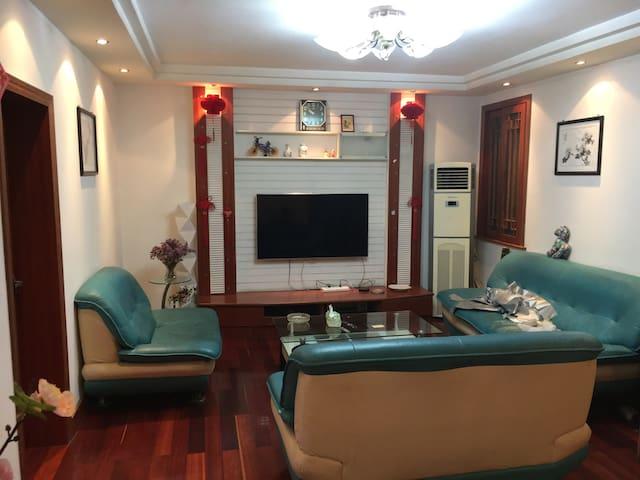 简洁舒适的4人公寓房 108㎡ - 镇江 - Appartement