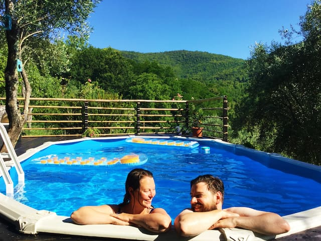 Double room in historic Tuscan house with pool! - Cerignano - Talo