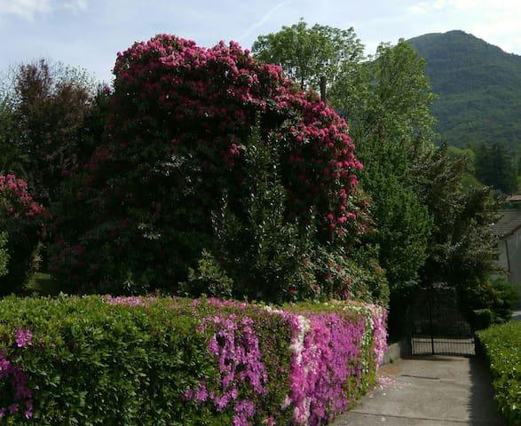 independent mansarda in villa- magnificent garden. - Mergozzo - Villa