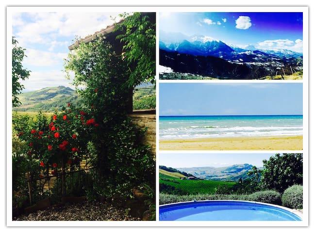 Abruzzo Farmhouse w/Stunning Views - Montefino - Hus