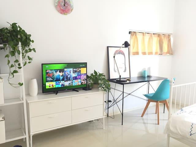 可爱的房子,地铁口50米精致的公寓,位于繁华商圈,交通便利 - Suzhou - Wohnung