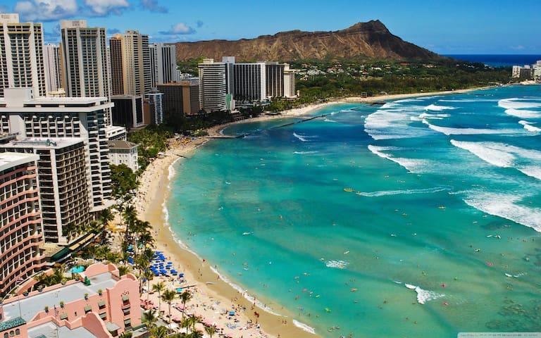 Near the Beach spacious private Apt in Waikiki - Honolulu - Leilighet