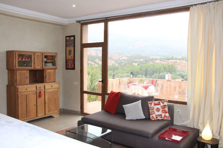 Bungalow avec vue pour 4 au coeur de l'Atlas - Ouirgane - Villa