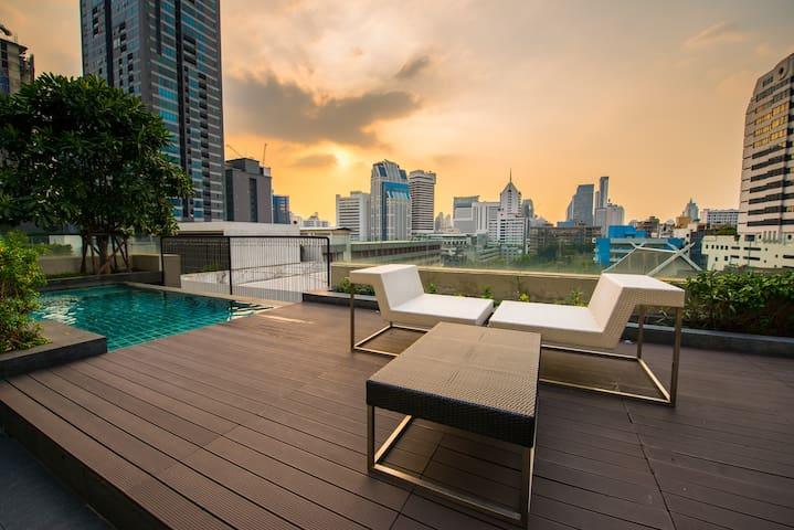 Cozy Convenient Apt  500 m to BTS MRT Sukhumvit - Bangkok - Apto. en complejo residencial