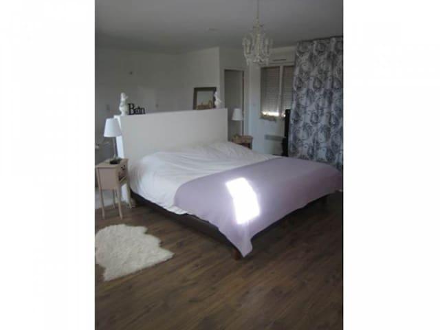 Chambre 40 m2 avec salle de bain et toilettes - Rosières-prés-Troyes - Apartamento
