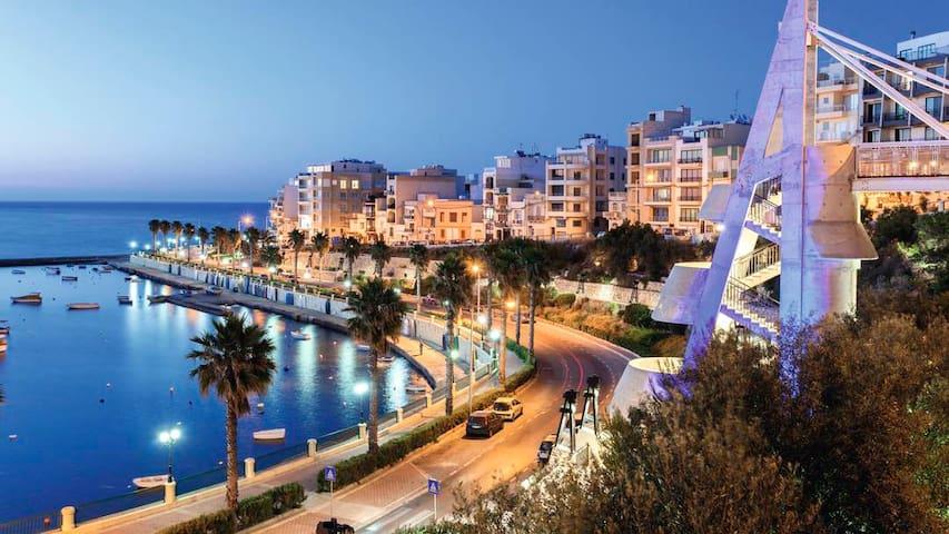 Beautiful accommodation in seaview apartment - San Pawl il-Baħar - Leilighet