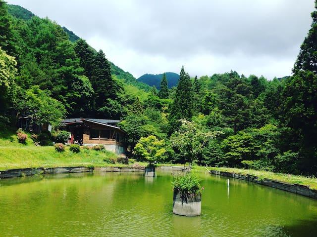 Quiet retro-house with lake! - Peace&One Urashima - Fujiyoshida-shi