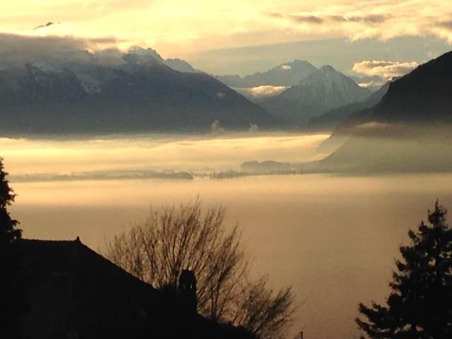 Chardonne, vue incroyable sur lac et montagnes - Chardonne - Huoneisto