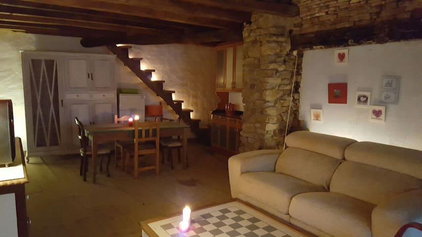 Casa de piedra restaurada - Viesca - Hus