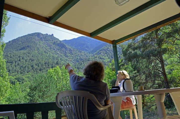 chalet avec vue sur la montagne - Escaro - Alpstuga