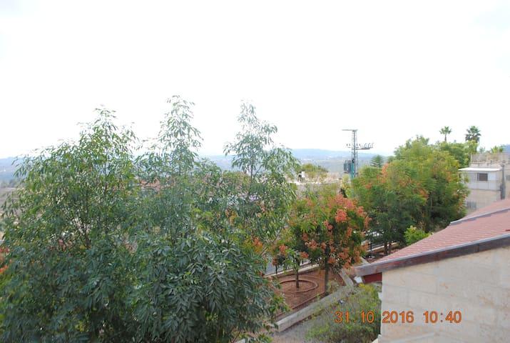Renovated Telzstone Duplex Up the Hill - Kiryat Ye'arim - Apartamento