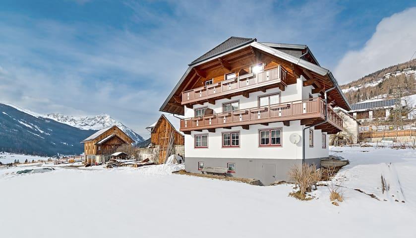 40 m² Wohnung mit Balkon, tolle Aussicht auf Berge - Weißpriach - Apartamento