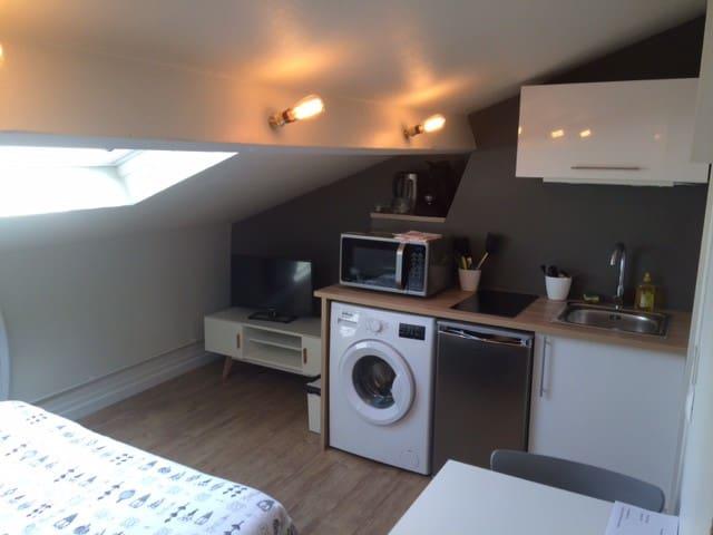 Studio tout équipé proche de la gare - 瓦朗謝訥(Valenciennes) - 公寓
