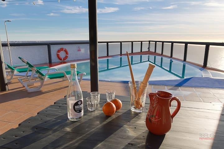 Angels Inn Paradise 2. Amazing view. Swimming pool - Calheta - Lägenhet