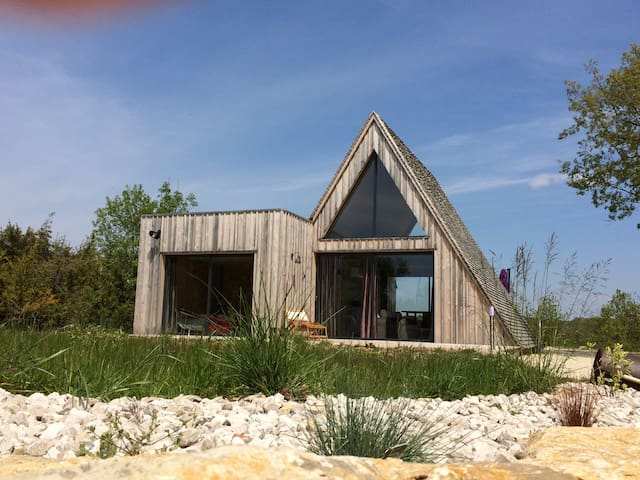 Trigone Wooden Lodge & shared pool, South France - Saint-Martin-Labouval - Huis