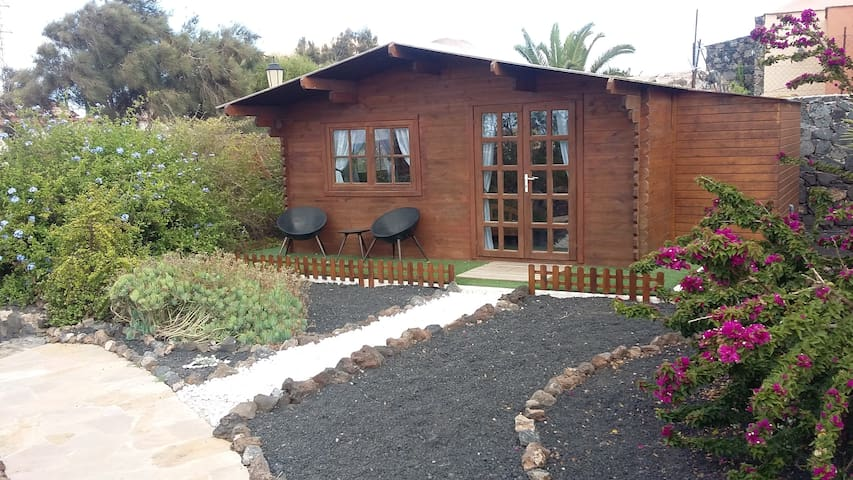 Separate Beautiful Wooden log cabin - La Oliva - Zomerhuis/Cottage