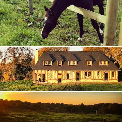 Maison de charme proche Deauville - Les Authieux-sur-Calonne - Ev