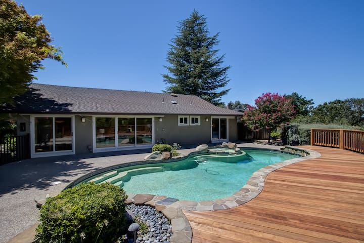 Luxury Near SF  - Audio! Pool! Spa! Views! - Walnut Creek - Casa