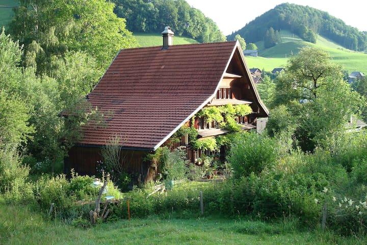 Haus im Grünen für Naturliebhaber und Romantiker - Krinau - Suite parentale, ou similaire