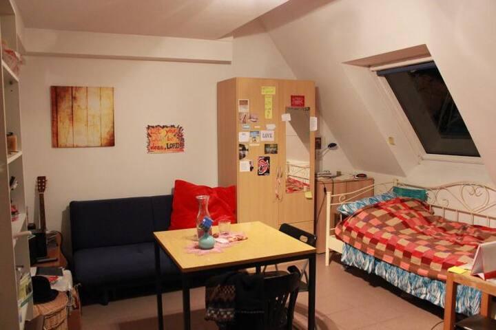 Privatzimmer mit Balkon & Küche in zentraler Lage - Groß-Zimmern - 公寓