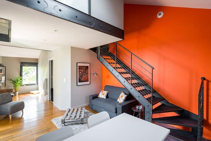 Loft between Eurexpo and St Exupéry airport - Genas - Apartamento
