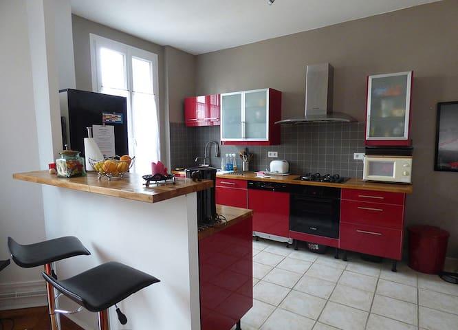 Beau T3 ancien rénové,tout confort - Chalon-sur-Saône - Apartamento
