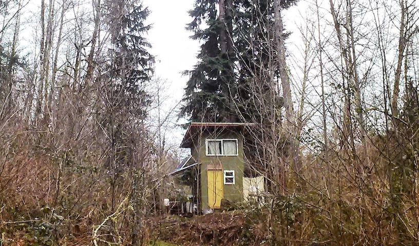Green Cabin in the Woods - Kalama - Casa de campo