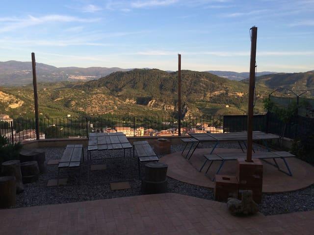 Sunny top hill village stone house - Santa Severina - House