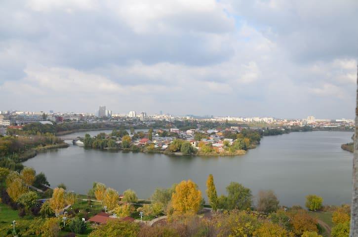 Spartan apartment with a great view near Mega Mall - București