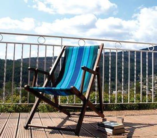 calme et verdure pour ce spacieux f3 - Lamalou-les-Bains - Apartamento
