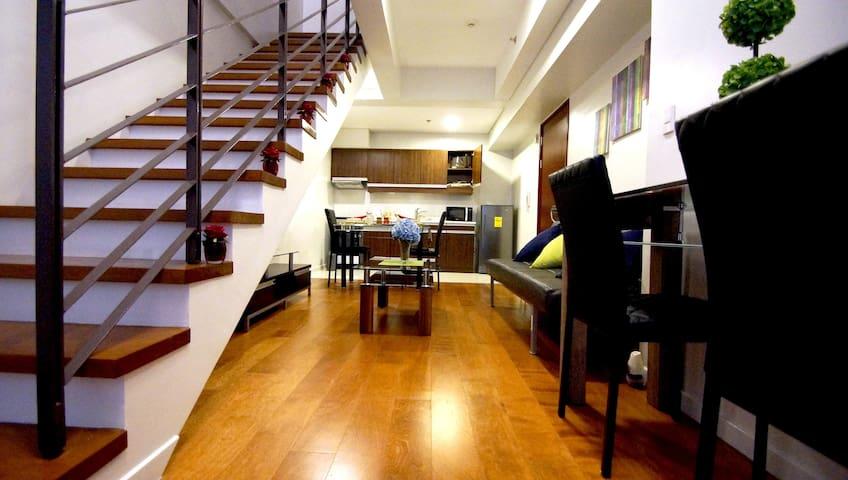 Modern 1-Bed Loft by Greenbelt Mall - Makati - Loft