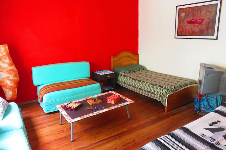 Hab Privada Casa Centro Amplia Tranquila Luminosa - Rosario - Huis