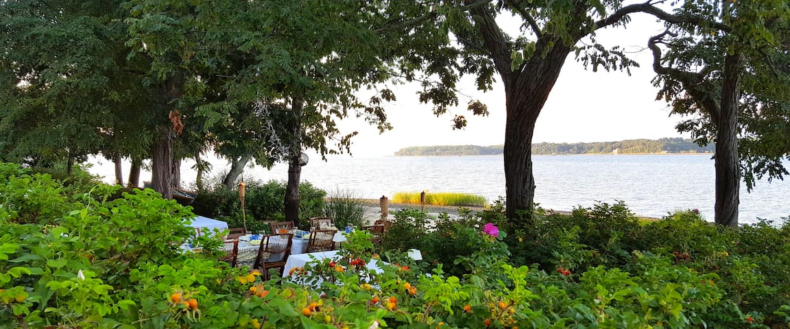Waterfront Hampton's Style Cottage - Oyster Bay - 旅舍