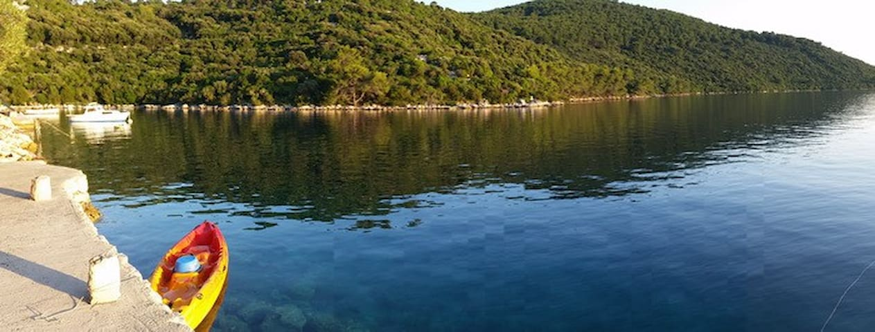Island of Lastovo Robinson house 1.row to the sea. - Lastovo - Hus