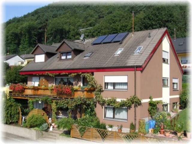 Schönes, helles Gästezimmer mit Burgblick (DU/WC) - Wernersberg - Rumah
