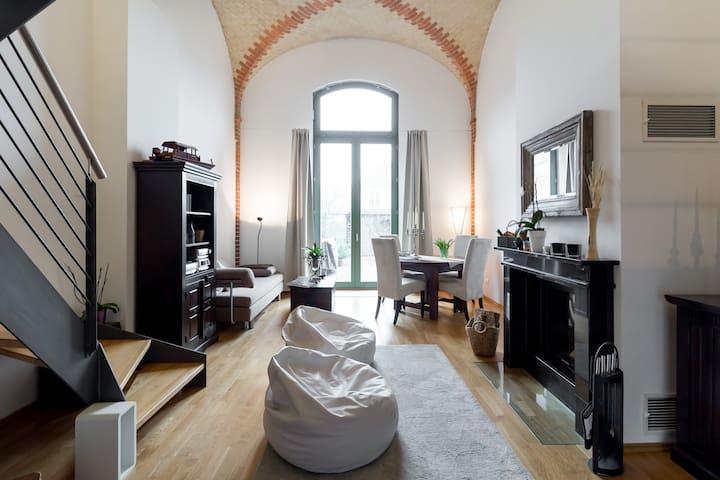 Exclusives Loft am Schloss Sanssouci, Kamin&Garten - Potsdam - Huis