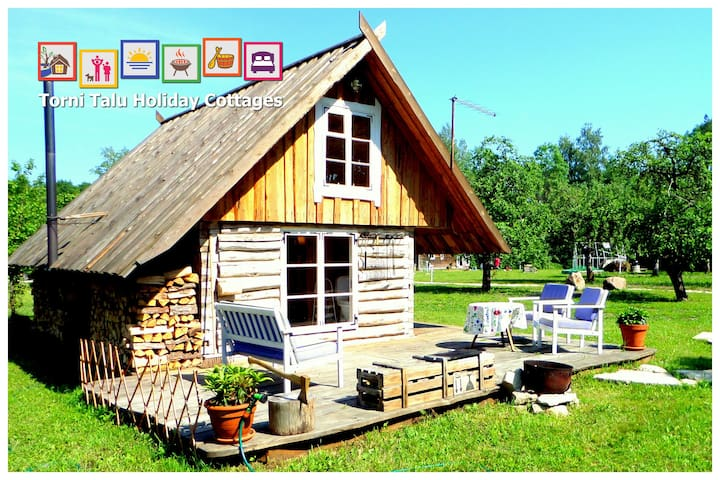 Romantic Cabin with bath and fireplace, Torni Talu - Pulli - Hytte