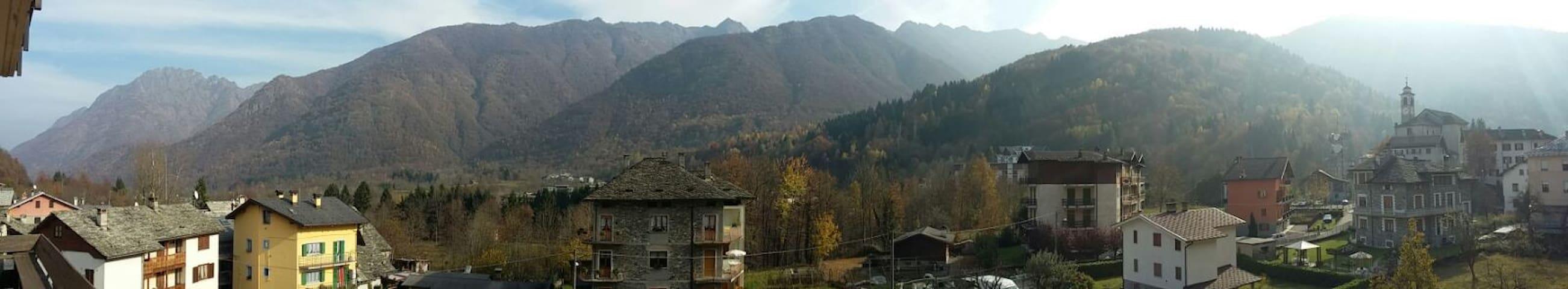 Valsesia, casa con vista ai piedi del monte Rosa - Scopello - Departamento