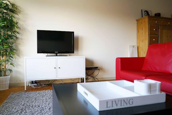Big apt - 2 bedrooms - 1 private parking space - Löwen - Wohnung