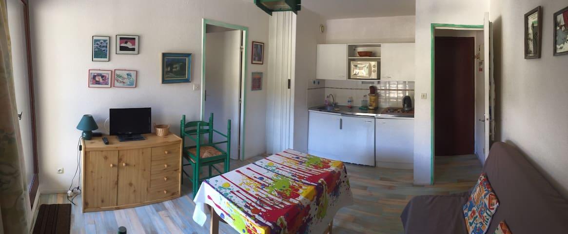 Petit appartement T2 avec balcon, Bolquère - Bolquère - Apartemen