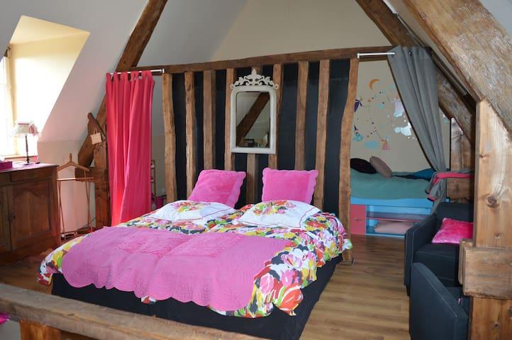 Chambre familiale chez Jocelyne - Courcy - Hus
