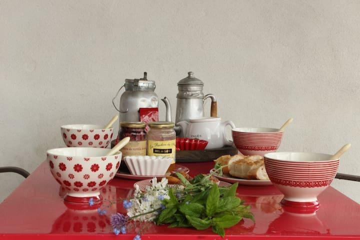 La Framboisine maison typique ! - Alleyrac - Oda + Kahvaltı