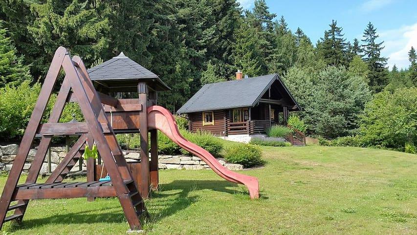 Finnish log hut in nature with sauna! - Hazlov - Apartamento