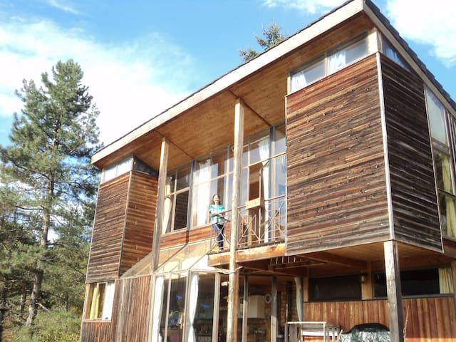 Chambre dans maison en bois, bioclimatique - Saint-Beauzély - Rumah