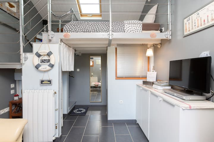 Au Ptit Matlo chambre indépendante avec salon télé - Coye-la-Forêt - Bed & Breakfast