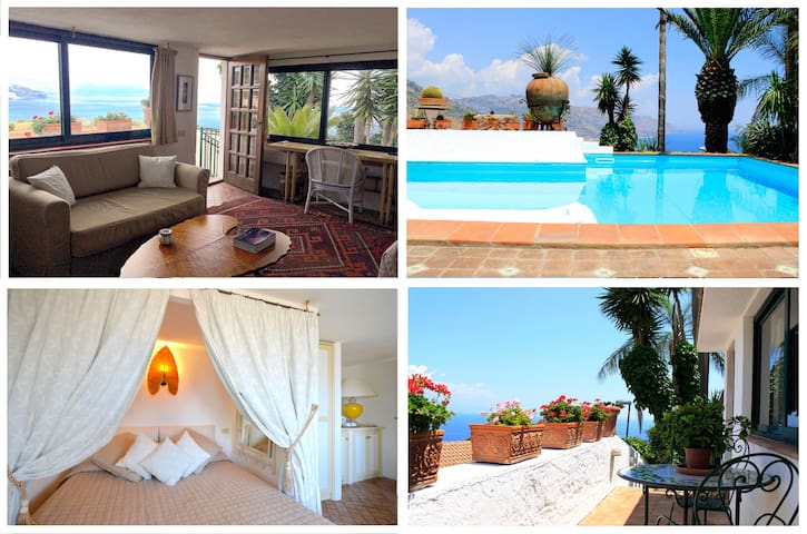 PANORAMIC SUITE  Terrace Pool + View in Taormina - Taormina