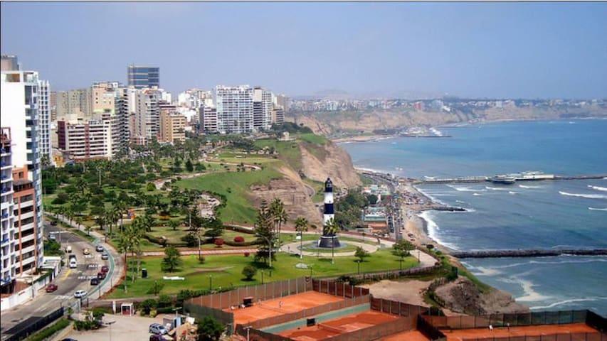 Wonderful Ocean View Apartment in Miraflores - Miraflores