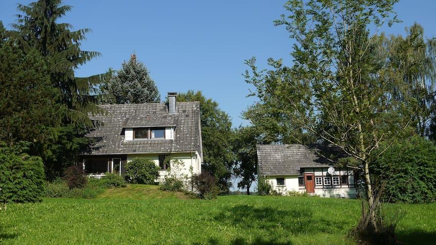 Forsthaus am Fuß der Burg Herzberg - Breitenbach am Herzberg - Casa